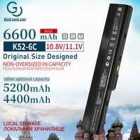 4400mAh batterie d'ordinateur portable pour asus A32-K52 K52 K52J K52DR K62 K62F K62J K62JR N82 K52JC K52JE K52JK K52JR K52N K52D K52DE K52F