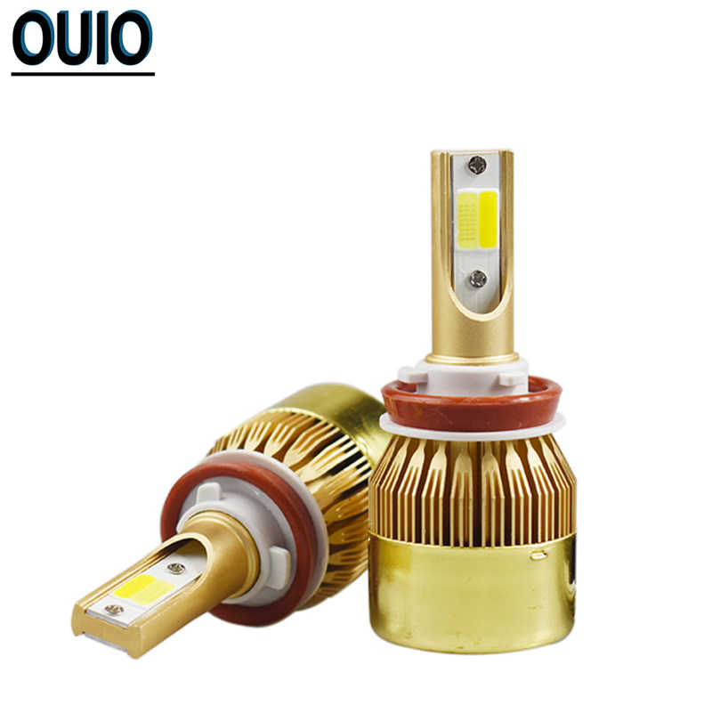 Double Couleur ampoule LED H4 H7 H11 Voiture Phare H3 H8 H9 Antibrouillard 9012 9004 9005 9006 9007 12V Phare Blanc Jaune Lumières Automatiques