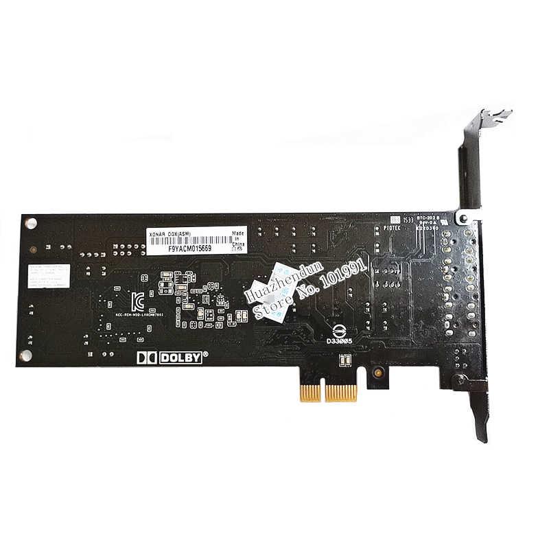 מקורי ASUS Xonar DGX PCI-E 5.1 כרטיס קול מוסיקה משחק סרט סיבי קול כרטיס
