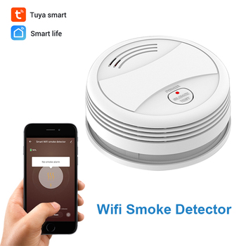 CPVan SM05W WiFi Rauchmelder Tuya APP Control Security Feuer Schutz Drahtlose Feuer Detektor für Home Security Alarm System rauchmelder wifi