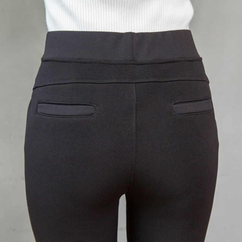 Pantalones bordados de invierno para mujer, pantalones de terciopelo cálidos de algodón a la moda, Pantalones rectos gruesos para la nieve para mamá, pantalones de chándal de talla grande