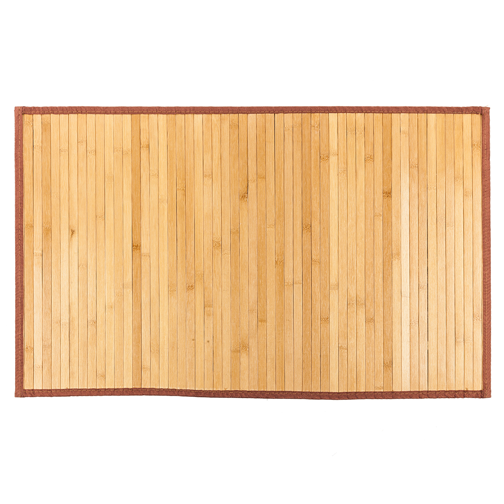 21 x 34 Inch Non-sliding Waterproof Bamboo Floor Mat Natural Mattresses Bedroom Furniture E2S