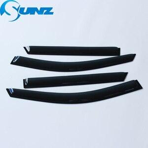 Image 2 - Side Window Deflectors Black  Color Car Wind Deflector Sun Guard For HYUNDAI SANTA FE 2012 2013 2014 2015 2016 2017 SUNZ