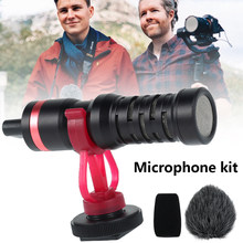 Mikrofon 3,5mm Audio Video Fotografie Aufnahme Nieren Directional Kondensator Mikrofon für Android Mac Vlog Mic Kamera
