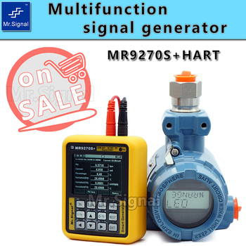 MR9270S + HART 4-20MA Signal Generator Calibrate Current Voltage PT100 Thermocouple Pressure Transmitter Recorder Frequency high precision handheld portable 4 20ma 0 10v signal generator adjustable current voltage analog simulator with led display