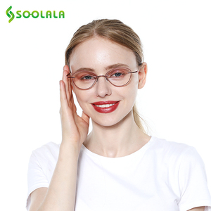 Image 4 - SOOLALA נשים גברים טיטניום נירוסטה ללא מסגרת משקפי קריאה גבוהה סוף קל קוראי משקפיים עם מקרה + 1.0 כדי 3.5
