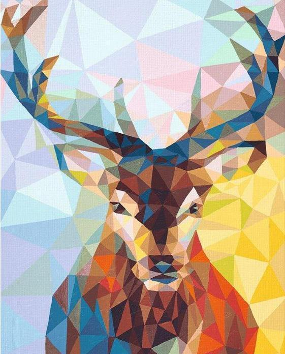 Oil Painting By Numbers Polygon Deer Paint By Numbers For Adults DIY Children Painting By Numbers Coloring Schilderen Op Nummer