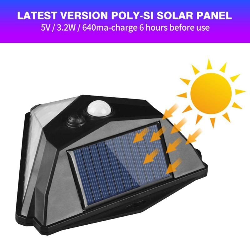 New Solar Power Light Outdoor LED Sun Power Lamp PIR Motion Sensor Wall Light Waterproof Solar Garden Light Lampara Street Light