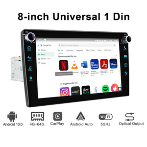 Image 2 - JOYING Android 10.0 head unit 8 inch IPS 1280*720 4GB+64GB car radio player GPS Navigation stereo RDS  DSP support 4G&Carplay&BT