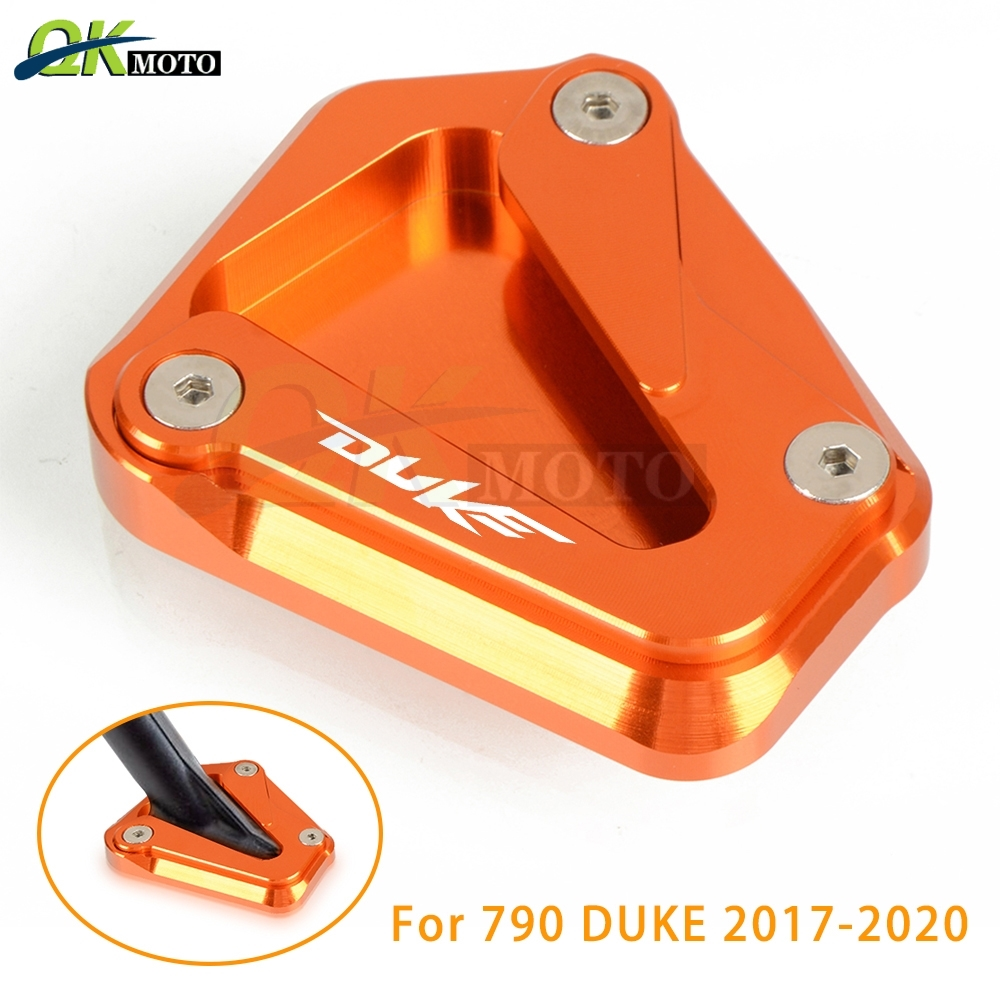 Motorcycle Kick Stand Side Stand Enlarger Pad Extension Plate Pad CNC Aluminum Accessories For KTM Duke 790 DUKE 790 2017-2020