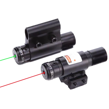 цена на Tactical Red Green Dot Laser Sight Scope With Picatinny Mount For Pistol Rail And Rifle For Airsoft Hunting Shooting