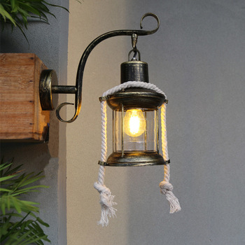lamp, wrought iron personality retro industrial wall lamp led restaurant cafe bar home sitting room lamp decoration