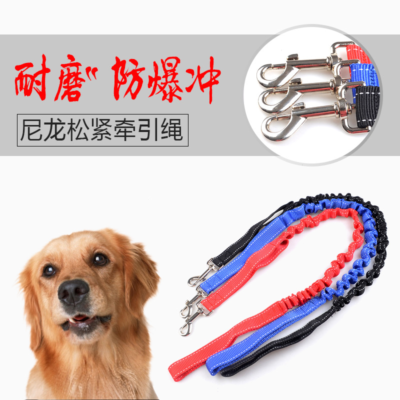 New Products Anti-Buffer Hand Holding Rope Pet Traction Belt Dog Pulling Rope Large Dog Elastic Stretching Pet Supplies