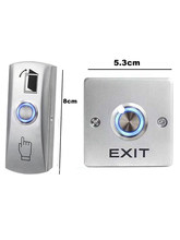 Interruptor de botão de saída de liga de zinco não/nc/com sistema de porta botão de liberação de pressão para controle de acesso botão de luz de fundo