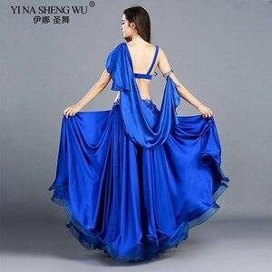 Image 5 - Trajes de danza del vientre profesional para adultos, conjunto de danza Oriental elegante, Top de danza del vientre, sujetador, falda larga, trajes para mujer