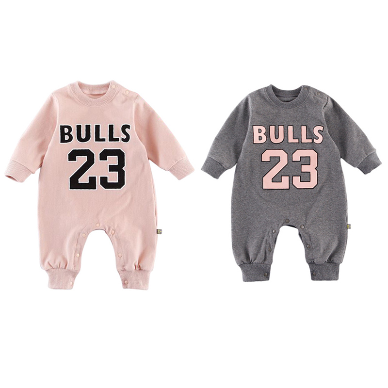 2019 Fashion Newborn Baby Boy Girls Clothes letters Long sleeves Romper Autumn Winter Warm Sports Toddler Jumpsuit Outfits 0-18M