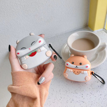 3D Headphone Case For Airpods Pro Case Silicone Cartoon Hamster Earphone/Earpods