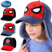 Disney Spiderman children #8217 s hat Captain America boys #8217 baseball cap winter thunder hat duck tongue cap children #8217 s warm ear cap cheap CN(Origin) Corduroy Casual Nylon Fastener Tape 6 1 2 6 3 4 Cartoon