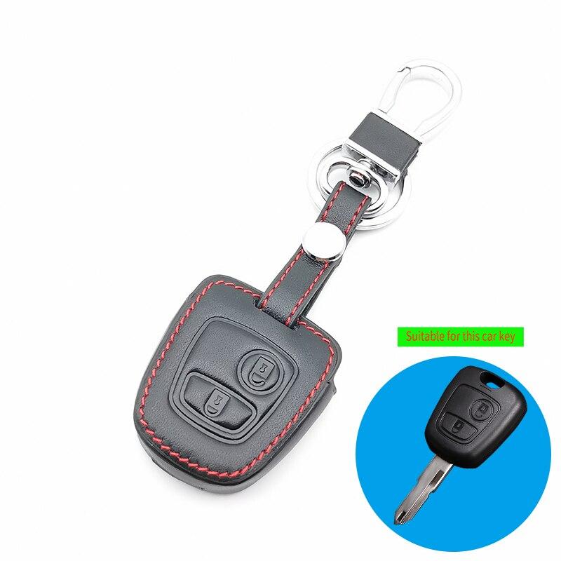 2 botão caso chave do carro para peugeot 107 206 307 207 408 para citroen c2 c3 c4 xsara picasso berlingo para toyota aygo reta chave capa