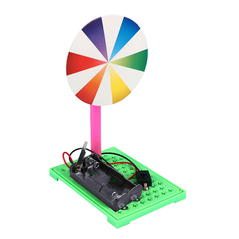 Fun Creative Electric Seven Color Disk DIY Model Materials Kit Kids Gift Kids Science DIY Toys Gifts For Learning Education