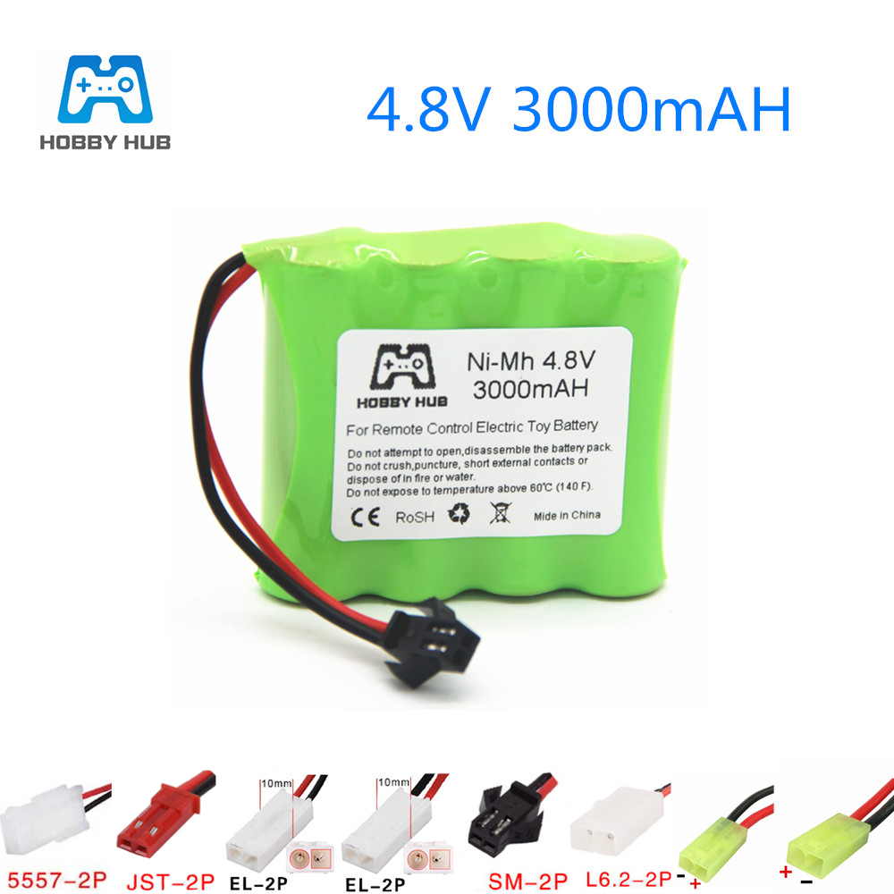 Ni-MH AA Battery 4.8V 3000mAh Rechargeable Battery For Car Ship Tanks Robots 3000 Mah For Remote Control Toys Lighting 4.8 V