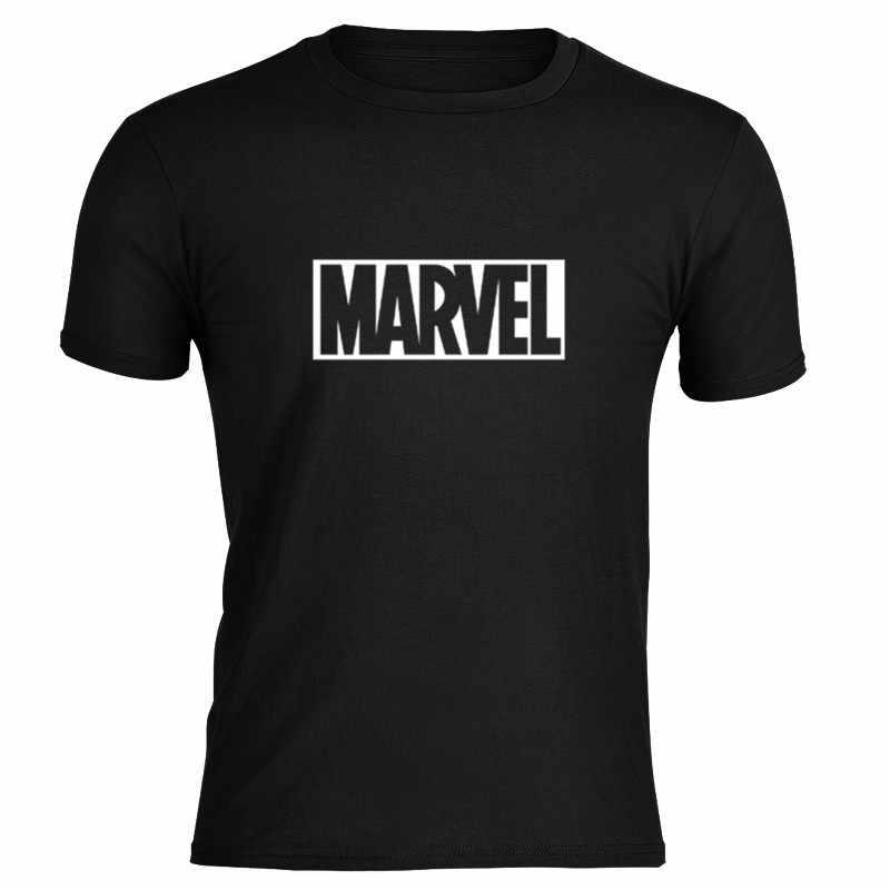 2019 Men Shirt MARVEL ชาย Tshirt ชายใหม่แฟชั่นแขนสั้น Marvel T เสื้อผู้ชาย Tops Tees นุ่มสีเหลือง