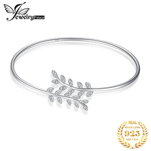 JPalace Crown Leaf Silver bracelet 925 Sterling Cuff Bangles Bracelets For Women Jewelry Making Organizer