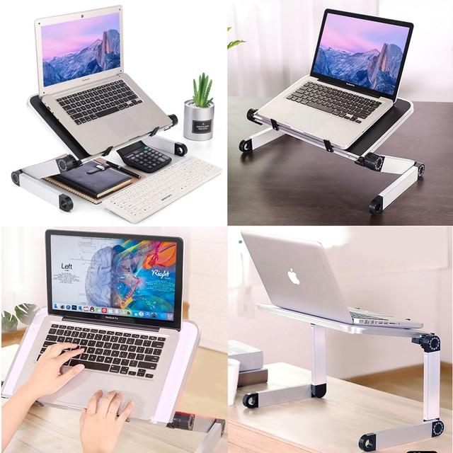 Adjustable Ergonomic Laptop Stand Laptop Desk for Bed Living Room Book Stand 360 Degree Adjustable Computer Table