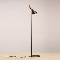 Nordic Aj Design lampa podłogowa czarny biały metalowy stojak lampara pie