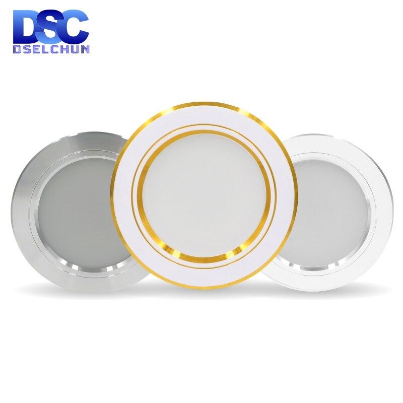 Led downlight 220v Led tavan işık 5W 9W 12W gömme projektör yuvarlak LED panel lambası 15W 18W Led spot ışık iç mekan aydınlatması