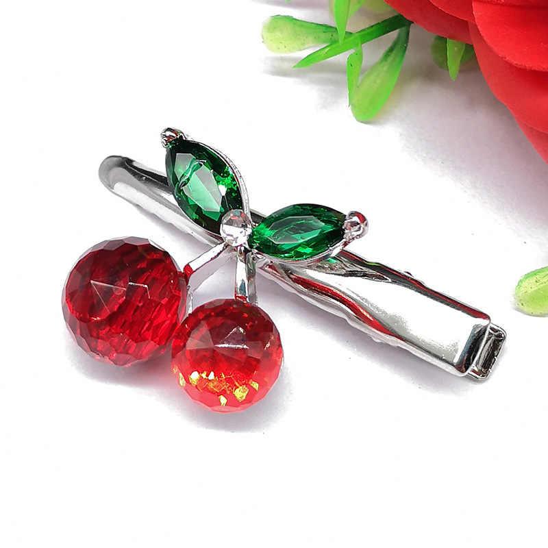 1Pcs Fashion Crystal Cherry Haar Clip Mooie Zoete Haarspelden Barrette Hoofdtooi Voor Vrouwen Meisje Haar Accessoires