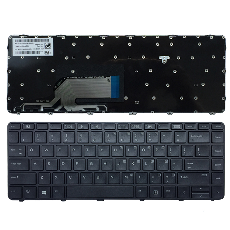 New US Laptop Keyboard For HP Probook 430 G3 430 G4 440 G3 440 G4 445 G3 640 G2 645 G2 English Black Keyboard With Frame