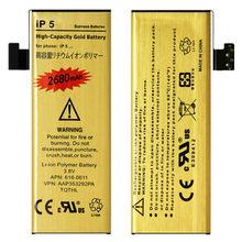 Hohe Kapazität Goldene Ersatz Batterie Für iPhone 5 iPhone 5S 5C Batterie ip5 ip5s ip5c Bateria iphone5