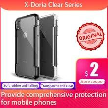 X Doria โทรศัพท์กรณีสำหรับ iPhone X XR XS MAX Defense CLEAR Military Grade DROP ทดสอบกรณีสำหรับ iPhone X XR XS MAX ฝาครอบโปร่งใส