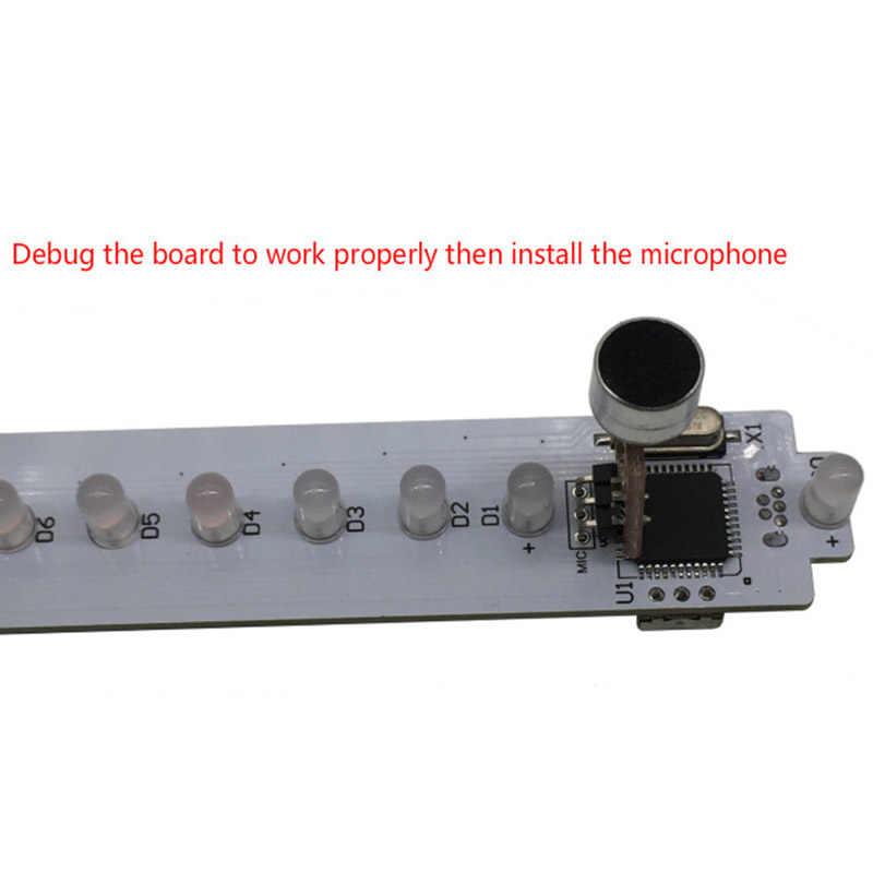 KS25 Sound Control VU Meter Crystal Sound Column Audio Level Meter LED Music Spectrum DIY Kits VU Tower for Home Theater