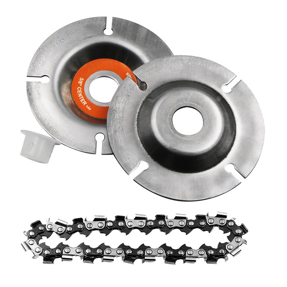 4Inch / 5Inch Chain Grinder Chain Saws Disc Woodworking Chain Plate Tool