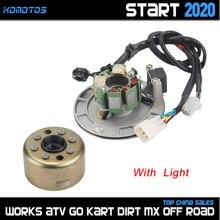 รถจักรยานยนต์ Magneto Stator Rotor มอเตอร์ความเร็วสูงชุดไม่มีสำหรับ Zongshen 150cc 155cc เครื่องยนต์ KAYO SDG SSR Dirt Pit จักรยาน