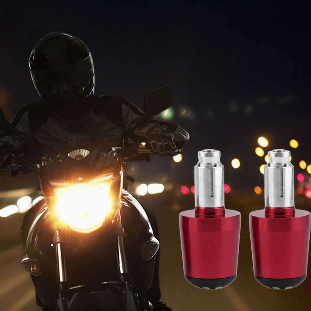 2pcs Universal Motorcycle Handlebar Ends Grip Weights Anti Vibration Plug Cap Hand Grips Bar End Plug Parts