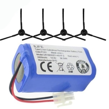 Battery 1x Battery+4x Brush Robotic Vacuum Cleaner Accessories Parts for Ilife V7S A6 Pro Plus