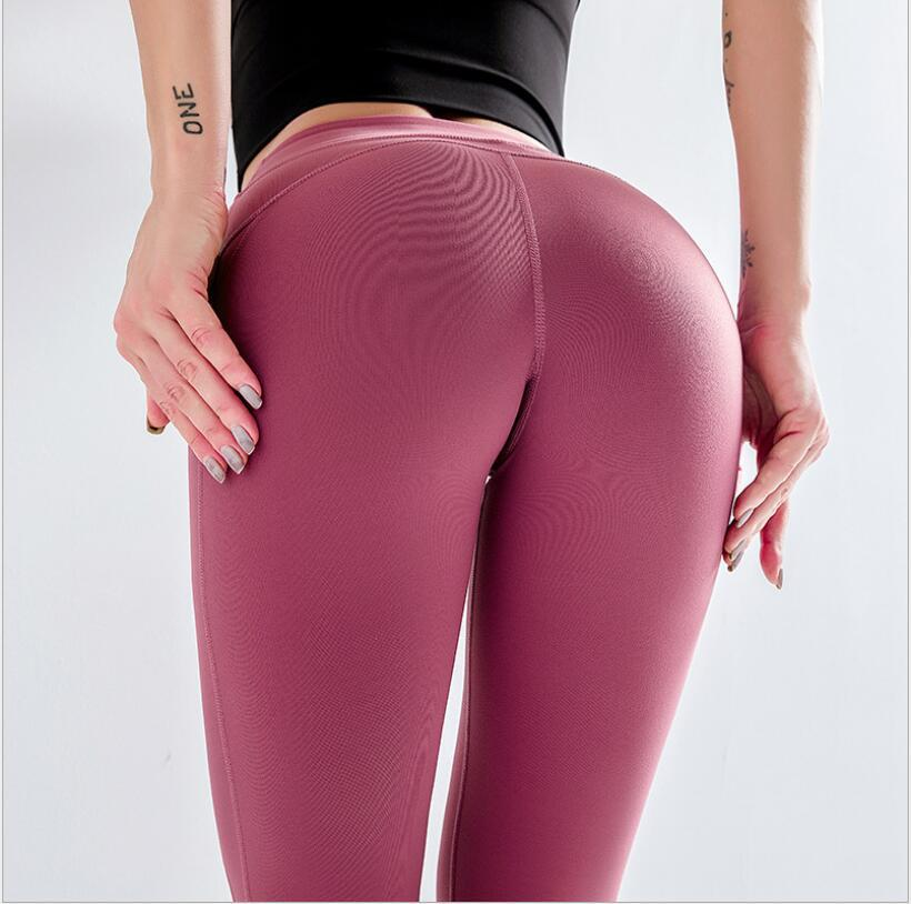New Products High-waisted Sports Leggings Women's Breathable Quick-Dry Elasticity Fitness Pants Buttock Lifting Slimming Yoga Ni