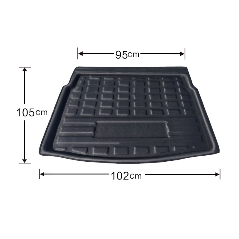cheapest For VW Tiguan 2016-2018 Liner Tray Car Rear Trunk Cargo Mat Floor Sheet Carpet Mud Protective Pad