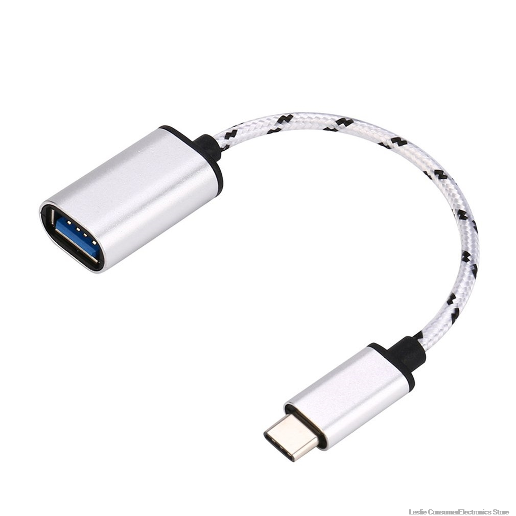 18cm    Type-C OTG Adapter Cable USB 3.1 Type C Male To USB 3.0 A Female OTG Data Cord Adapter NK-Shopping