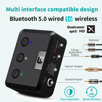 Оптический коаксиальный беспроводной Bluetooth 5,0 HD аудио приемник aptX HD 3,5 мм Aux Bluetooth приемник адаптер для автомобиля, колонки MR235PRO