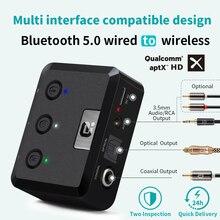 Optical Coaxialไร้สายBluetooth 5.0 HD AudioตัวรับสัญญาณaptX HD 3.5 มม.AUX Bluetooth Receiver Adapterสำหรับรถยนต์,ลำโพงMR235PRO