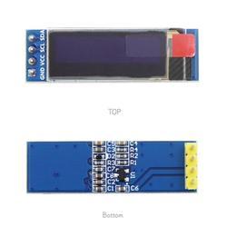 """Бесплатная Доставка 10 шт./лот 0.91 дюймов OLED модуль 0.91 """"Белый OLED 128x32 OLED ЖК-дисплей LED Дисплей модуля 0.91 """"IIC общаться"""