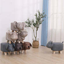 Sofa Stool Furniture-Stool-Chair Shoe Living-Room Solid-Wood Portable Household Baby