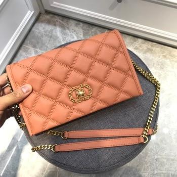 Kafunila luxury brand designer genuine cow leather crossbody women bag 2020 classic chain shoulder lady's bag bolsa feminina