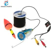 1000TVL Waterproof Underwater Fish Finder Fishing Video Camera Fish Detector 12PCS White LED Lights 15m/30m Cable(China)
