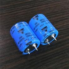 10 pces 2200 uf 80 v vishay 256 séries 25x30mm 80v2200uf sanp in psu alumínio capacitor eletrolítico