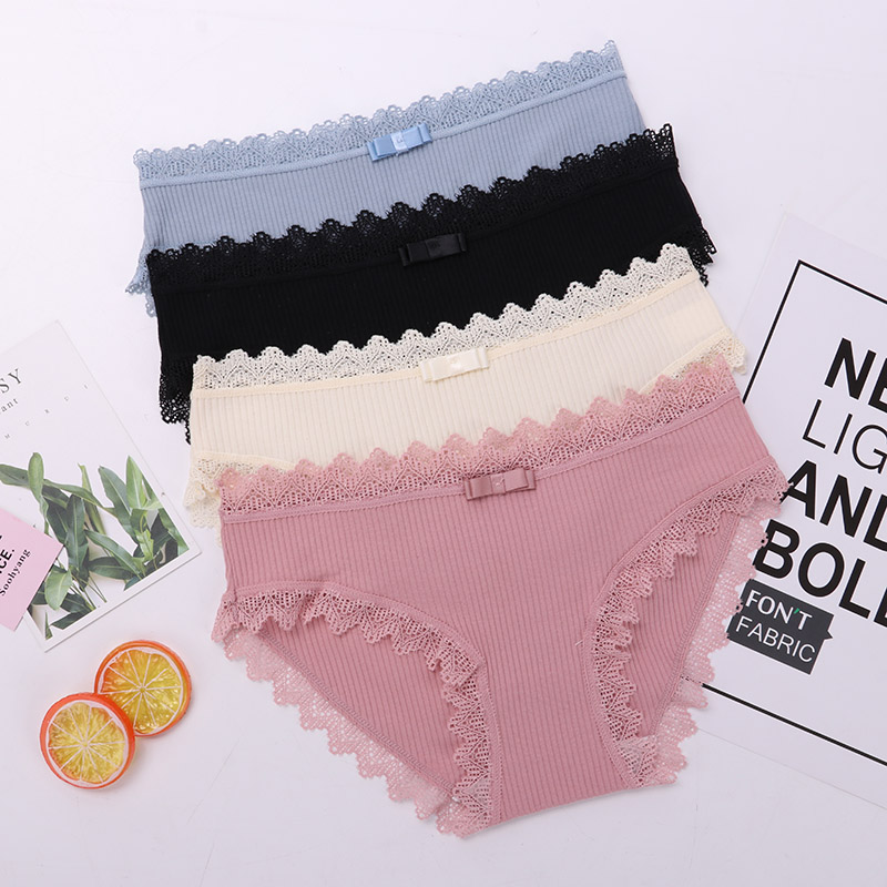 Lace Panties Women's Cotton Underwear Seamless Cute Bow Girls Soft Comfort Lingerie Fashion Female Lady Sexy Underpants Briefs